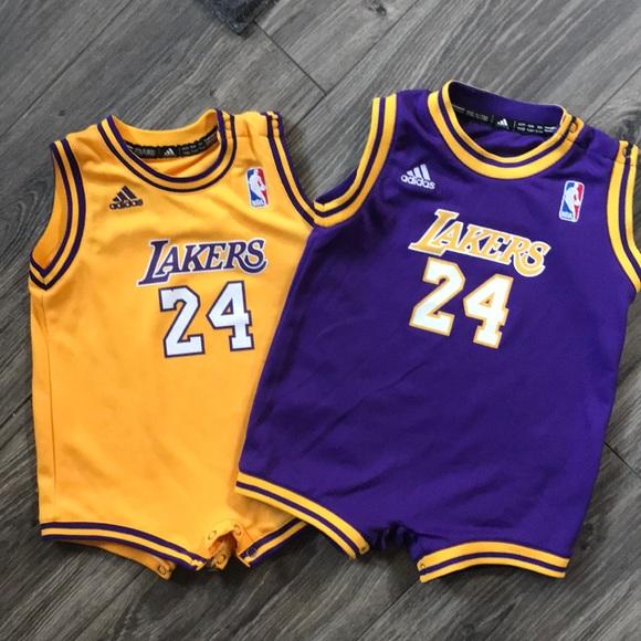 Adidas Kobe Bryant Lakers Jersey Romper 24m